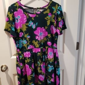 Lularoe Floral Amelia Dress